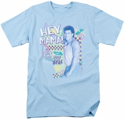 Saved By The Bell t-shirt Hey Mama mens light blue