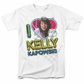 Saved By The Bell t-shirt I Love Kelly mens white