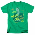Saved By The Bell t-shirt Mr. Belding mens kelly green