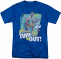 Saved By The Bell t-shirt Time Out mens royal blue