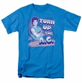Saved By The Bell t-shirt Turn Up The AC mens turquoise