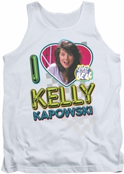 Saved By The Bell tank top I Love Kelly mens white