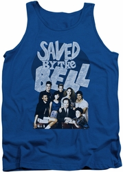 Saved By The Bell tank top Retro Cast mens royal