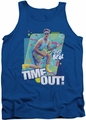 Saved By The Bell tank top Time Out mens royal blue