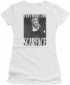 Scarface juniors t-shirt Business Face White