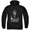 Scarface pull-over hoodie B&W Tony adult black