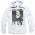 Scarface pull-over hoodie Business Face adult white