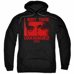 Scarface pull-over hoodie Cockroaches adult black