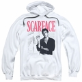 Scarface pull-over hoodie Stairway adult white