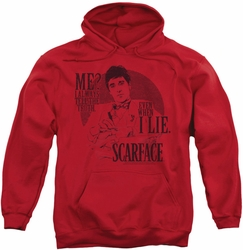Scarface pull-over hoodie Truth adult red