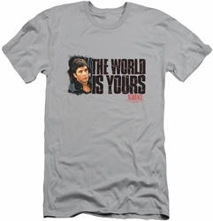 Scarface slim-fit t-shirt The World Is Yours mens silver