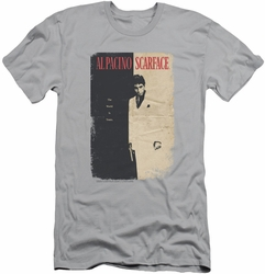 Scarface slim-fit t-shirt Vintage Poster mens silver