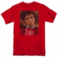 Scarface t-shirt Smoking Cigar mens red