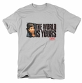 Scarface t-shirt The World Is Yours mens silver