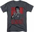 Scarface t-shirt Tony mens charcoal