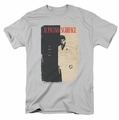 Scarface t-shirt Vintage Poster mens silver
