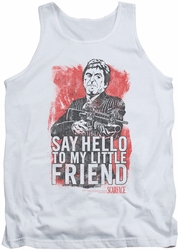 Scarface tank top Little Friend mens white