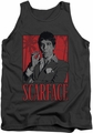 Scarface tank top Tony mens charcoal