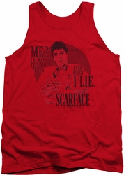 Scarface tank top Truth mens red
