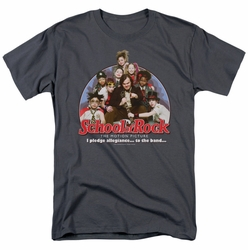 School Of Rock t-shirt I Pledge Allegiance mens charcoal