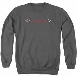Scorpion adult crewneck sweatshirt Logo charcoal