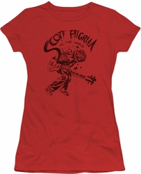 Scott Pilgrim juniors t-shirt Rockin red