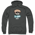 Scott Pilgrim pull-over hoodie 1 Up adult charcoal