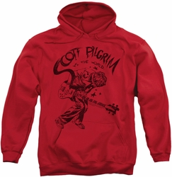 Scott Pilgrim pull-over hoodie Rockin adult red