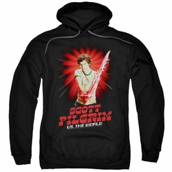Scott Pilgrim pull-over hoodie Super Sword adult black