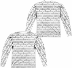 Sesame Street adult long-sleeved full sublimation shirt Black White Pattern white