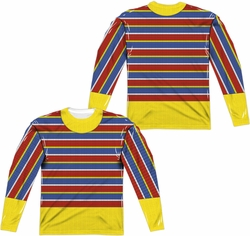 Sesame Street adult long-sleeved full sublimation shirt Ernie Costume white
