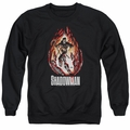 Shadowman adult crewneck sweatshirt Burst black