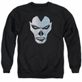 Shadowman adult crewneck sweatshirt Comic Face black