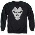 Shadowman adult crewneck sweatshirt Face black