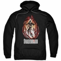 Shadowman pull-over hoodie Burst adult black
