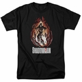 Shadowman t-shirt Burst mens black