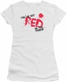 Shaun of The Dead juniors t-shirt Red On You white
