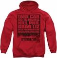 Shaun Of The Dead pull-over hoodie List adult red