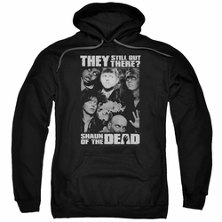 Shaun of The Dead pull-over hoodie Still Out There adult black