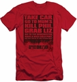 Shaun Of The Dead slim-fit t-shirt List mens red