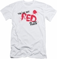 Shaun Of The Dead slim-fit t-shirt Red On You mens white