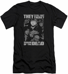 Shaun Of The Dead slim-fit t-shirt Still Out There mens black