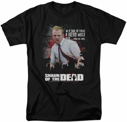 Shaun Of The Dead t-shirt Hero Must Rise mens black