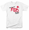 Shaun Of The Dead t-shirt Red On You mens white