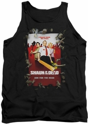 Shaun Of The Dead tank top Poster mens black