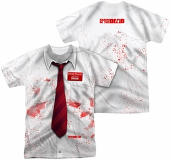 Shaun Of The Dead mens full sublimation t-shirt Bloody Shirt