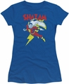 Shazam juniors t-shirt Let's Fly royal blue