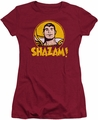Shazam juniors t-shirt Shazam Circle cardinal