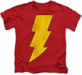 Shazam kids t-shirt Logo Distressed red