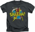 Shazam kids t-shirt Power Bolt charcoal
